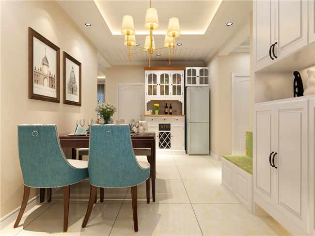 御锦城4期125平米三室两厅美式装修效果图